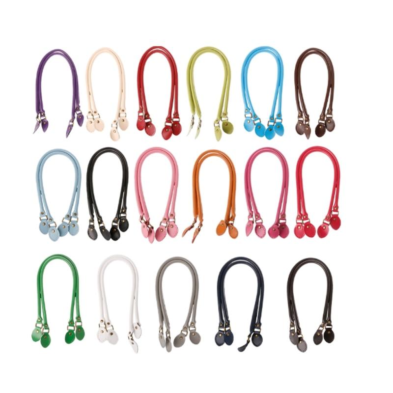Handle Bag Straps PU Leather 40cm/50cm/60cm Handle Belt Shoulder Bag Handles Replacement For Handbags Strap DIY Accessories