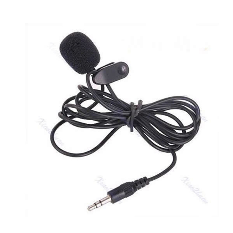 High Quality Clip On Mini Lapel Mobiloe Phone Microphone Hands Free Mic Black Color Hot Sale