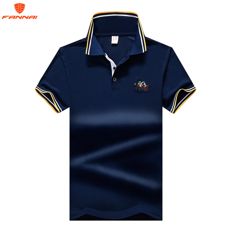 2019 Summer new M-6XL 7XL 8XL Large Size Men's Short Sleeve   POLO   Shirt Solid Color Business brand   polo   Shirts