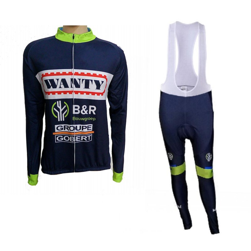 winter fleece 2017 pro team wanty mens Cycling jerseys long sleeve warmer bike clothing MTB Ropa Ciclismo Bicycle maillot live team cycling jerseys suit a001