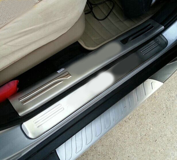 stainless steel scuff plate door sill covers for Kia Sportage 2007 2008 2009-2013 car styling auto accessories