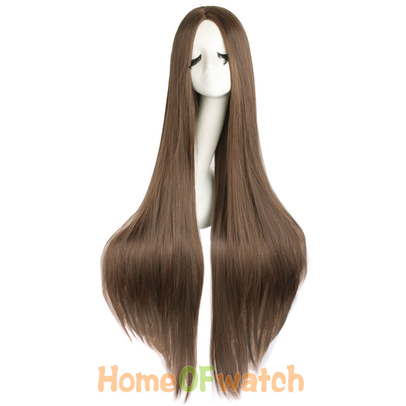 Image 3 - MapofBeauty 100cm Long Straight Hair100cm Cosplay Wig Black White Brown 4 Color Heat Resistant Synthetic Wigs Women Ladies Party-in Synthetic None-Lace  Wigs from Hair Extensions & Wigs