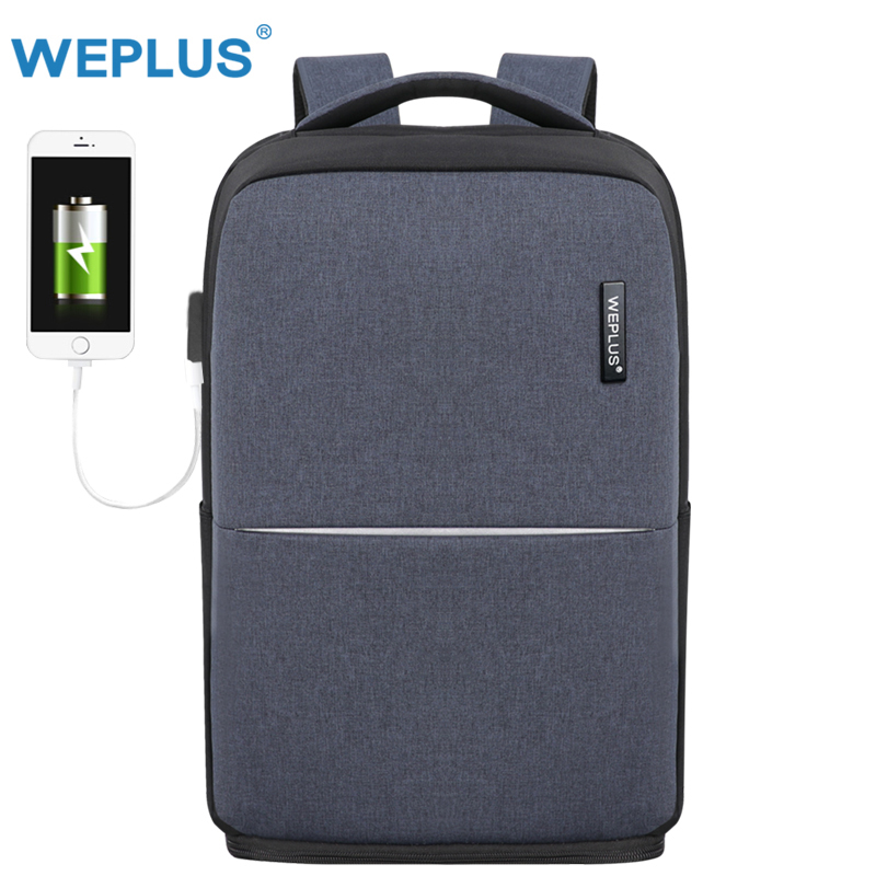 WEPLUS мужской рюкзак для ноутбука универсальный Зарядка через usb рюкзак для мужчин женщин непромокаемые путешествия Mochila анти вор Бесплатная ...