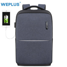 WEPLUS Laptop Backpack Male Multifunction USB Charging Backpack Men Women Waterproof Travel Bagpack Mochila Anti Thief Free Ship(China)