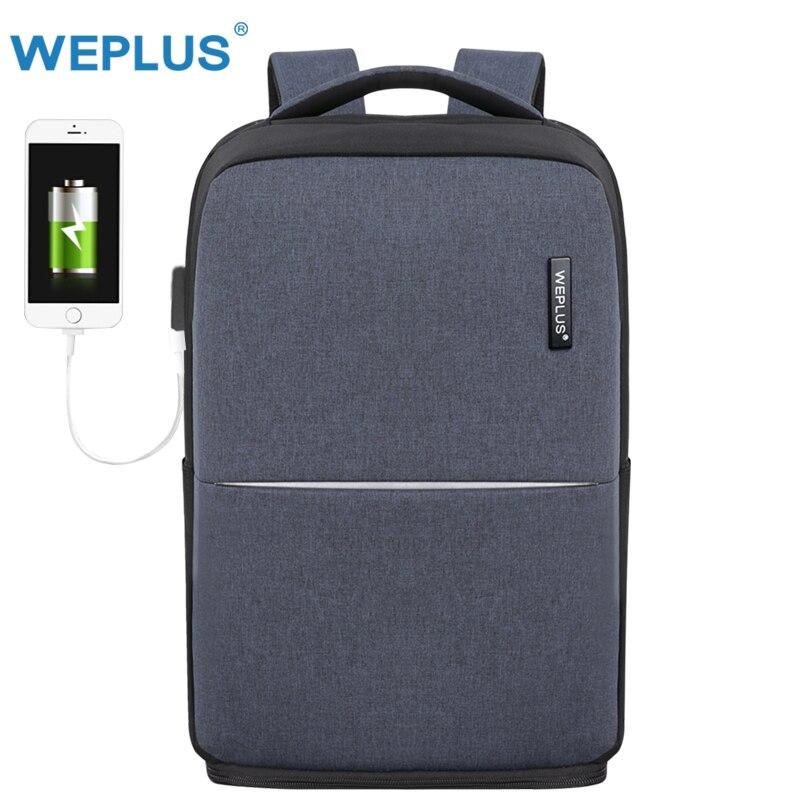 WEPLUS portátil Mochila hombre de carga USB multifuncional Mochila de mujeres de los hombres a prueba de agua de viaje Mochila Anti ladrón envío gratis