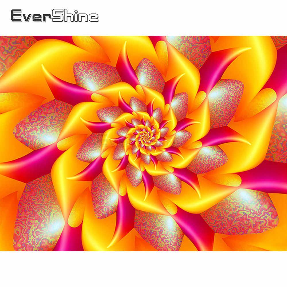 EverShine 5D Diamant Stickerei Volle Display Blumen Kreuz Stich Diamant Malerei Voll Bohrer Mandala Bild Von Strass Kunst