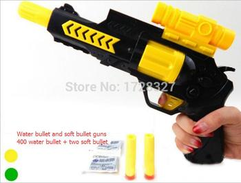 2019 New Paintball Gun Pistol & Soft Bullet Gun Plastic Toys CS Game Shooting Water Crystal Gun 2-in-1 Air Soft Gun Airgun
