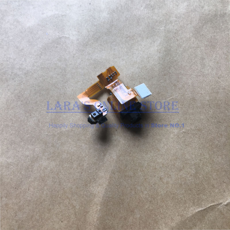 JEDX Brand New Audio Earphone Headphone Jack Flex Cable With Light For Sony Xperia Z3 /Z3 Compact Mini Replacement Spare Parts