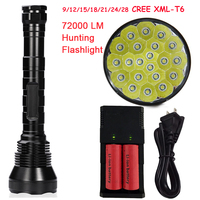 Super Bright 72000LM 5 Mode 28 XML T6 LED Flashlight Torch Flash Light Lamp For Outdoor