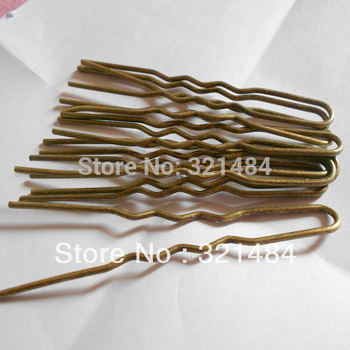 Wholesale 100mm 300pcs Antique Bronze Metal Hair Jewelry DIY Findings - Hairpin