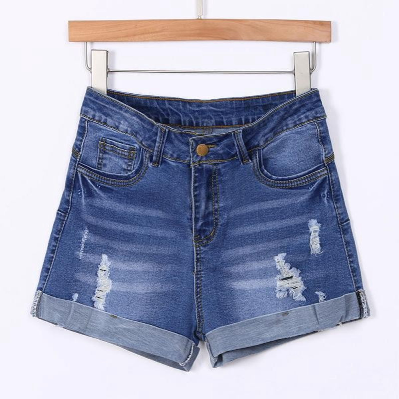 Short Pants Blue 2019 Women Pant Low Waisted Washed Ripped Hole Short Mini Jeans Denim Pants Shorts-30 8.8 4