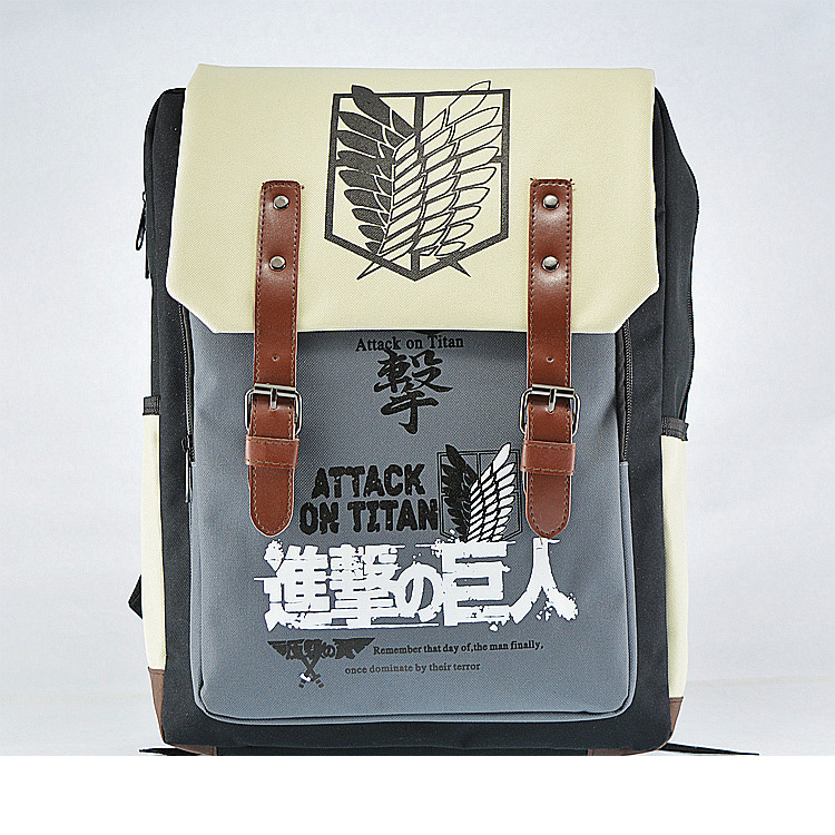 Men Cosplay Attack On Titan Anime Shingeki No Kyojin Backpack Schoolbag Shoulder Bag