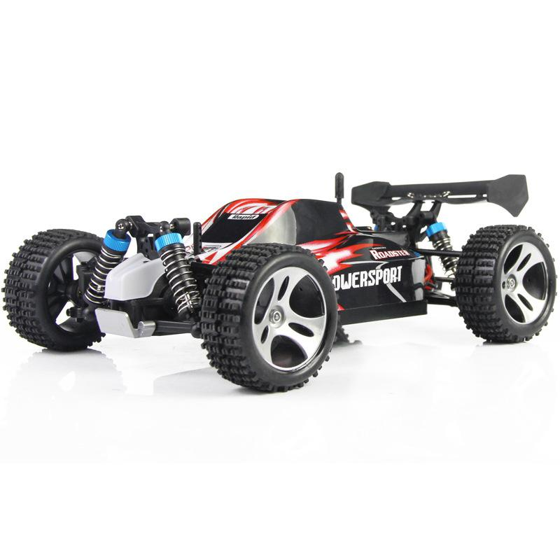 LeadingStar RC Mini Car WLtoys A959 2.4G 1/18 Scale Remote Control Off-road Racing Car SUV Toy Gift for Boy mini rc car 1 28 2 4g off road remote control frequencies toy for wltoys k989 racing cars kid children gifts fj88