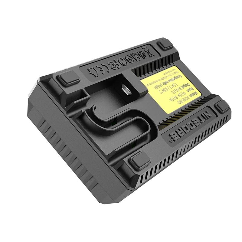 Official Nitecore UCN2 Pro Dual Slot USB QC Camera Battery LP-E6 LP E6 LPE6 Charger For CANON DSLR EOS 60D 5D3 7D 6D 5D Mark II