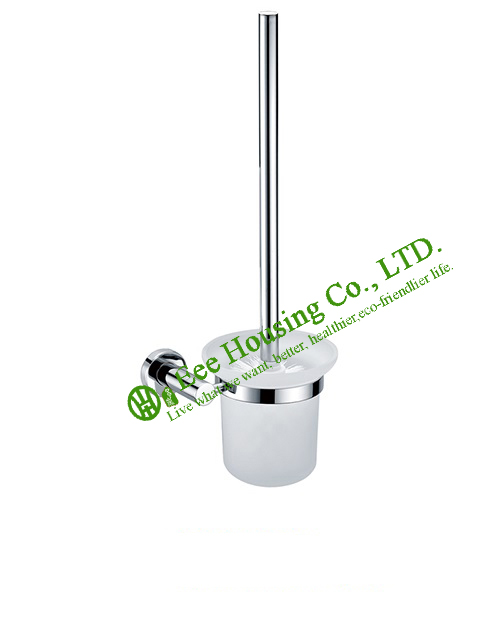 Free Shipping Toilet Brush Holder,Brass Material Chrome Finished,Bathroom Accessories,Toilet Brush Holder