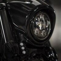 フィット用ハーレーsportster、鉄883、ダイナ、ストリートボブfxdb 45ワット5-3/4 5.75 'インチ黒daymakerプロジェクターledヘッドライト電球