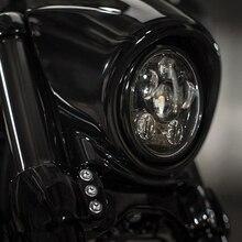 45w 5-3/4 5.75 '' inch black Daymaker Projector LED Headlight Bulbs Fits Harley Davidson Dyan Motorcycle led headlight harley daymaker headlamp for harley davidson vrsca v rod vrod 02 16 free shipping by dhl page 4