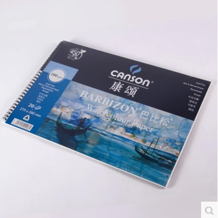 20pcs/ lot Canson 8k 200g 39*27cmbarbizon watercolor paper wotercolor book art paper 20pcs lot ls30 to252