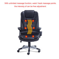 360 Degree Rotation Back Massage Seat Topper Car Home Office Seat 6 Point Wireless Game Massage