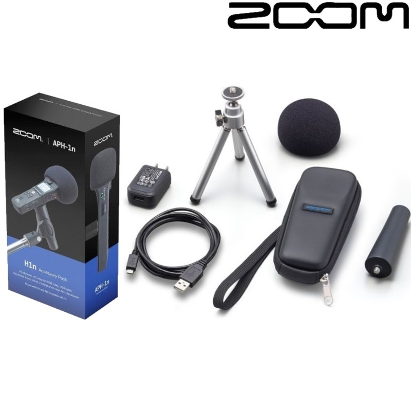 Zoom APH1n APH 1n Accessory Pack for ZOOM H1n Handy Recorder Adjustable tripod stand Mic clip