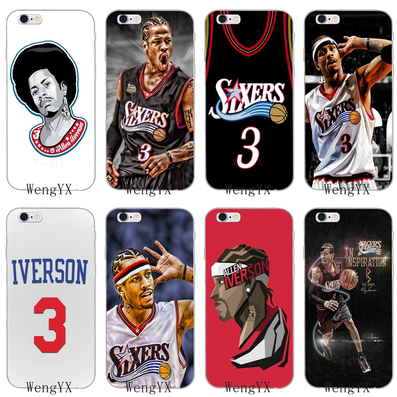 basketball star Allen Iverson 3 silicone Soft phone case For HTC One A9 M10 M7 M8 M9 E9 plus Desire 530 626 628 630 816 820 U11