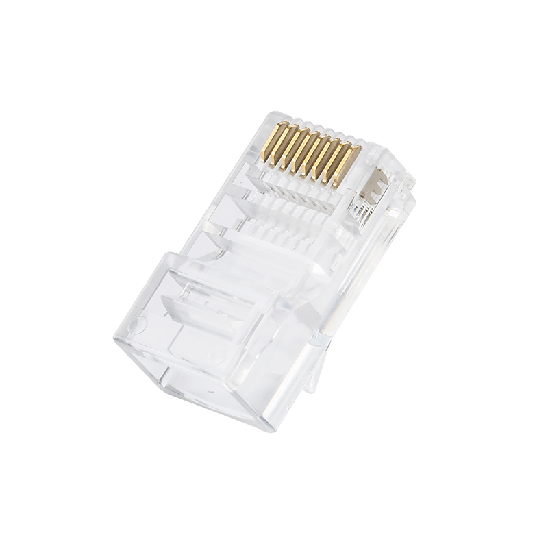 Network connector RJ45 Cat5e 8P8C Modular Plugs Connector For Cat5e Cables - Three Prongs Blade network socket hr 911105 c brand new goods in stock network transformer 59 8 p 8 c bring lamp bring shrapnel rj 45