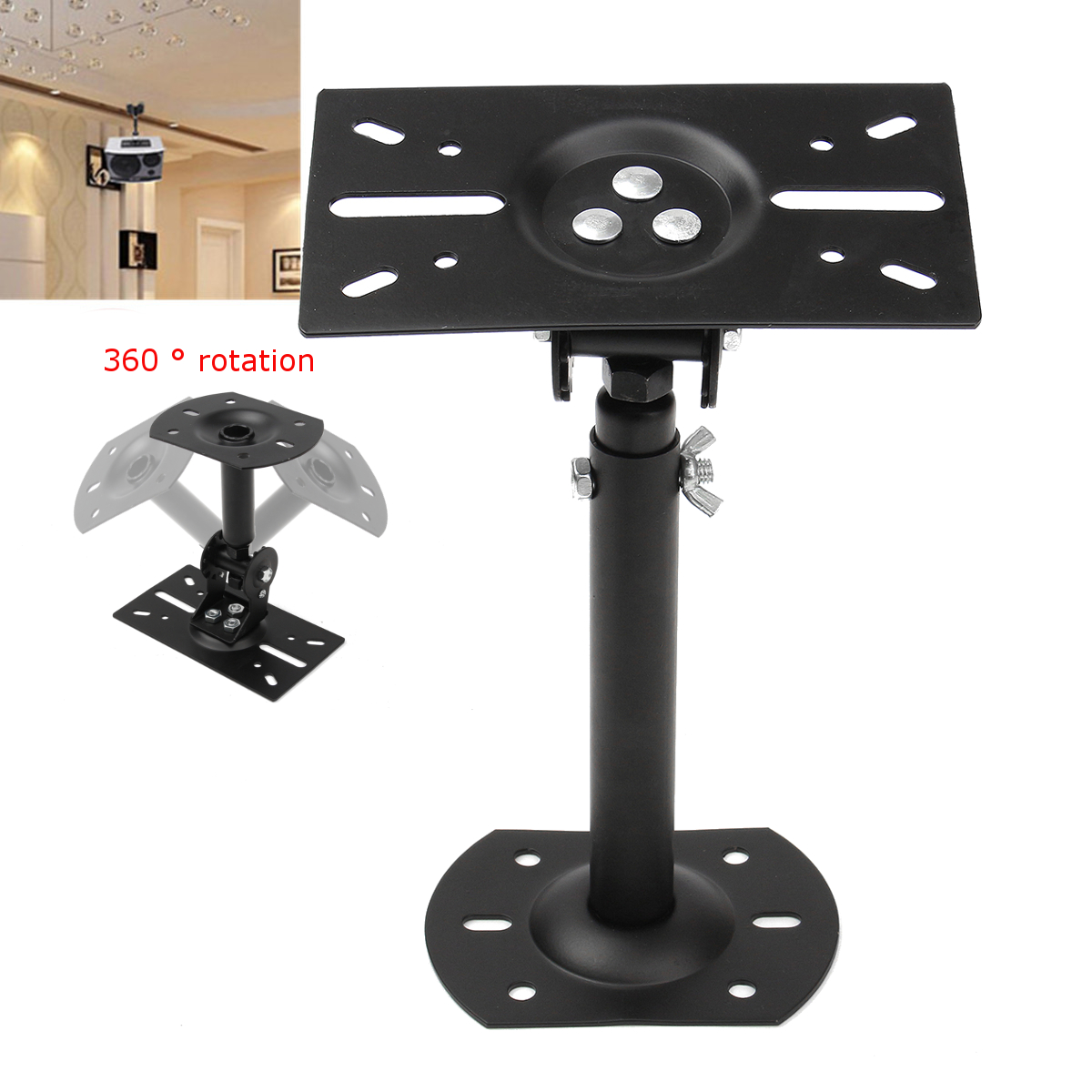 High Quality New Wall Mount Ceiling Bracket Holder Universal Adjustable Stable Stand Holder