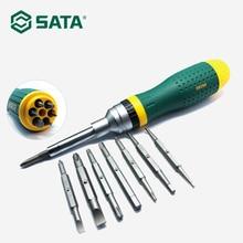 цена на SATA 19-in-1Ratchet Screwdriver Hand Tool Multi-Tool Screwdriver Kits Home Repair Tool Set 09350