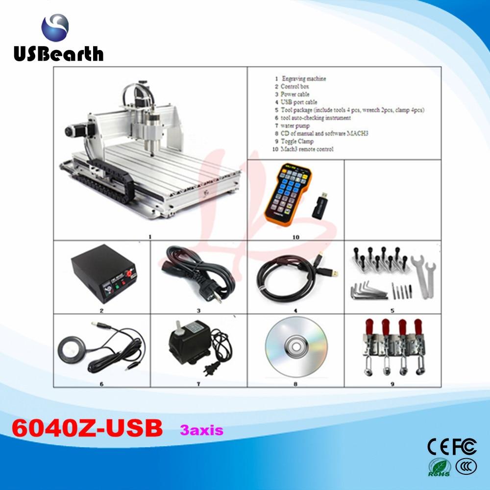 2.2KW с ЧПУ CNC 6040Z-USB ШВП предел Swtich USB ЧПУ машины с mach3 дистанционный пульт, нет налога в Россию