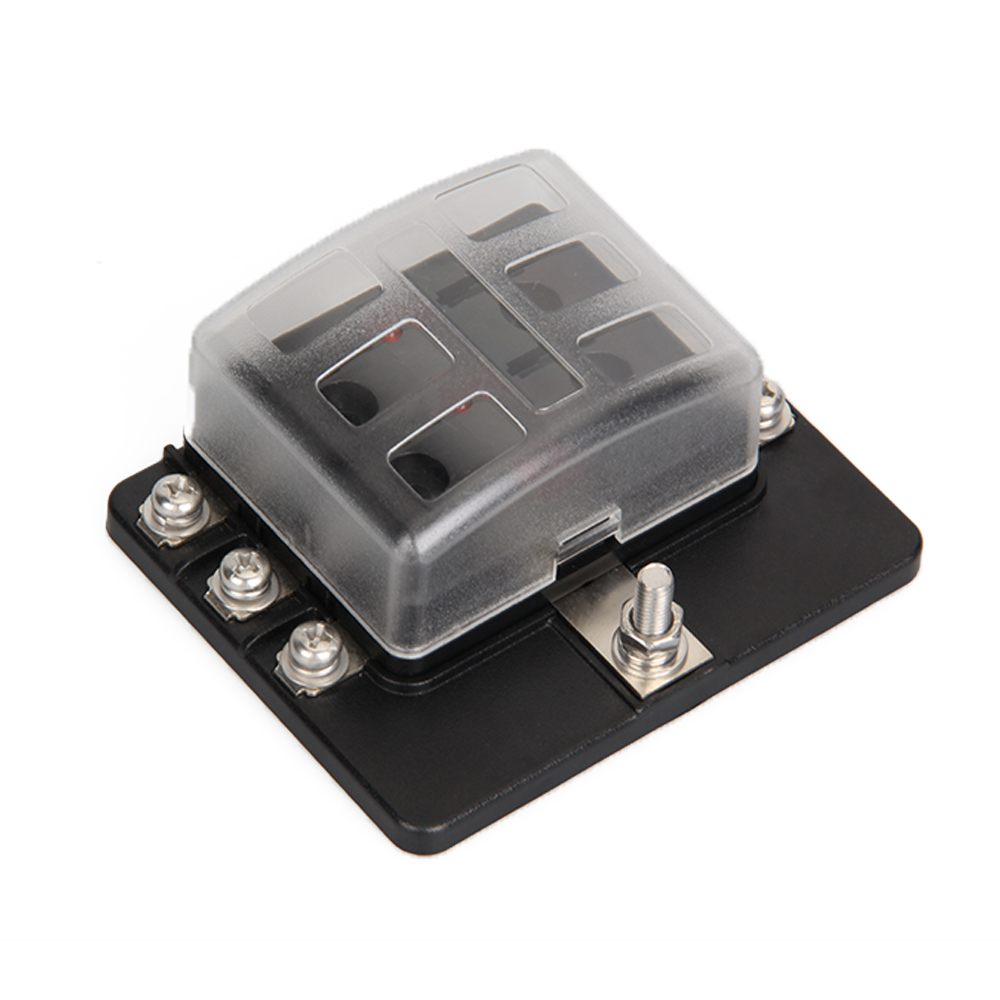 Carchet 6 Way Blade Fuse Box Blown Cover 100a Led Illuminated Has Automotive Holder 6circuit Block In Fuses From Automobiles Motorcycles