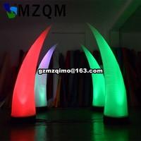 6pcs/lot,Party decoration LED light Inflatable tree LED lighting Inflatable bamboo shoot decorative Inflatable pillar flower