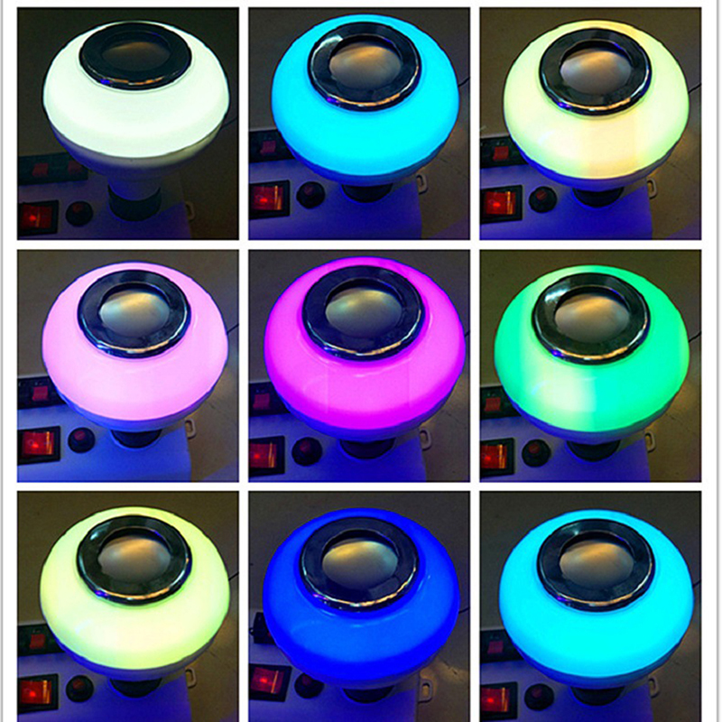Colorful Light Bulb Speaker  BlueTooth + Remote Control + White Light Function Novelty Lighting