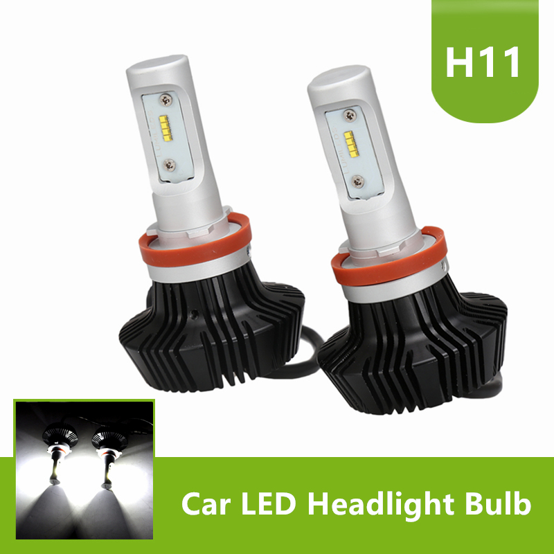 все цены на 1Pair 50W 8000LM Car LED Headlight Bulbs Conversion Kit H11 H8 Lo Beam PHI ZES Chip White 6500K