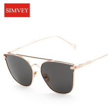 Simvey 2017 New Fashion Sunglasses Women Brand Designer Retro Sun Glasses Luxury Vintage Metal Frame Mirrored Lens UV400