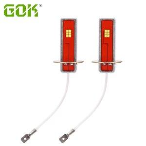 Image 1 - 2pcs Canbus led H1 H3 LED Bulb 12 led CSP Chip 60W Auto Car Fog Light Lamp Driving Running Light 6000K White 12V 24V