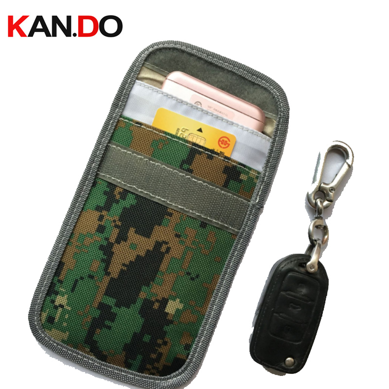 Camouflage Car Key Jammer Bag Card Anti-Scan Sleeve Bag Mobile Phone Signal Blocker Protection Jammer Remote Car Key Jammer Bag