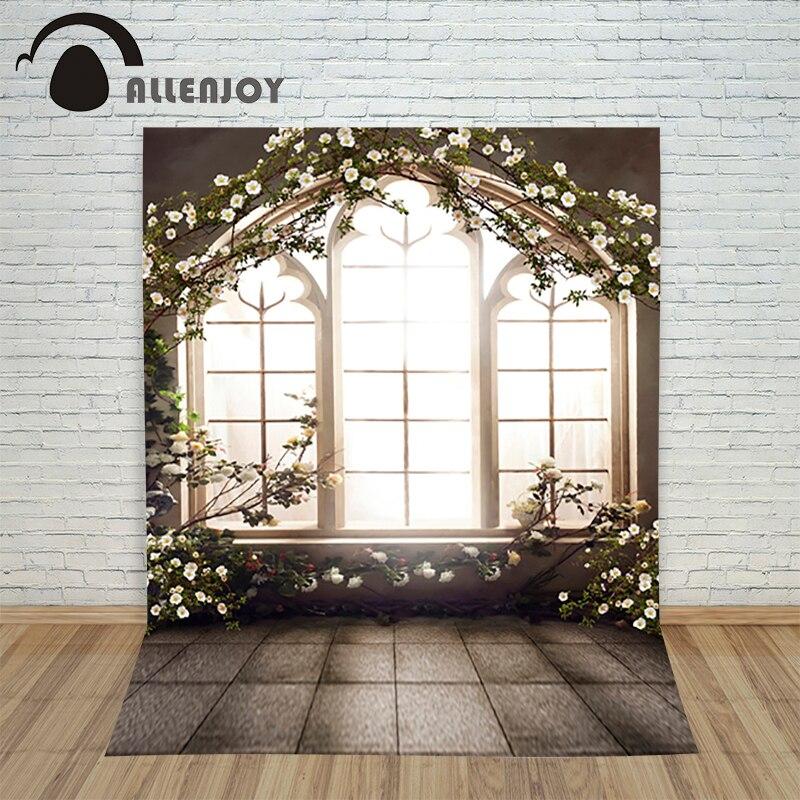 Allenjoy photographic background blinds window sill flower spring photography backdrops for studio Custom size digital backdrop  недорого