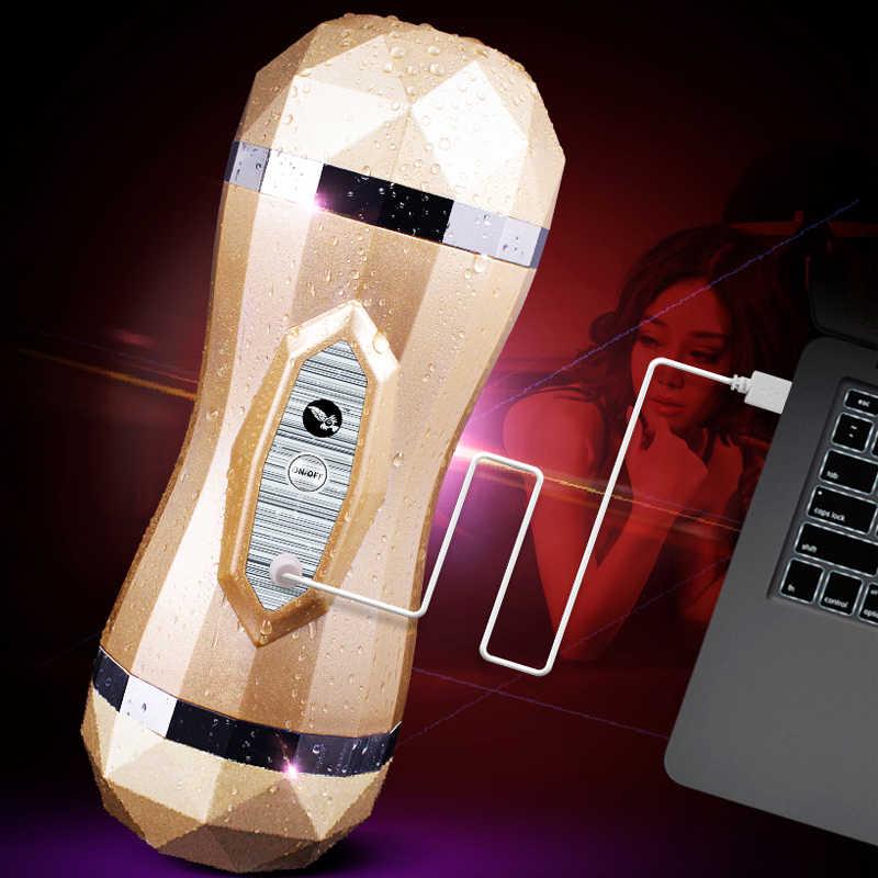 جهاز استمناء للرجال من gelugee مهبل حقيقي هزاز للرجال لعبة من السيليكون ، ألعاب جنسية مزدوجة للمهبل في الحلق العميق للرجال