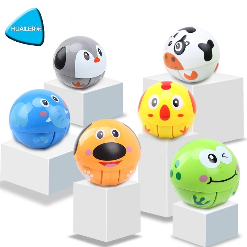 HUAILE Animal Roly Poly Tumbler Toy Inercia Climbing Toy Ring Ring - Խաղալիքներ նորածինների համար - Լուսանկար 2