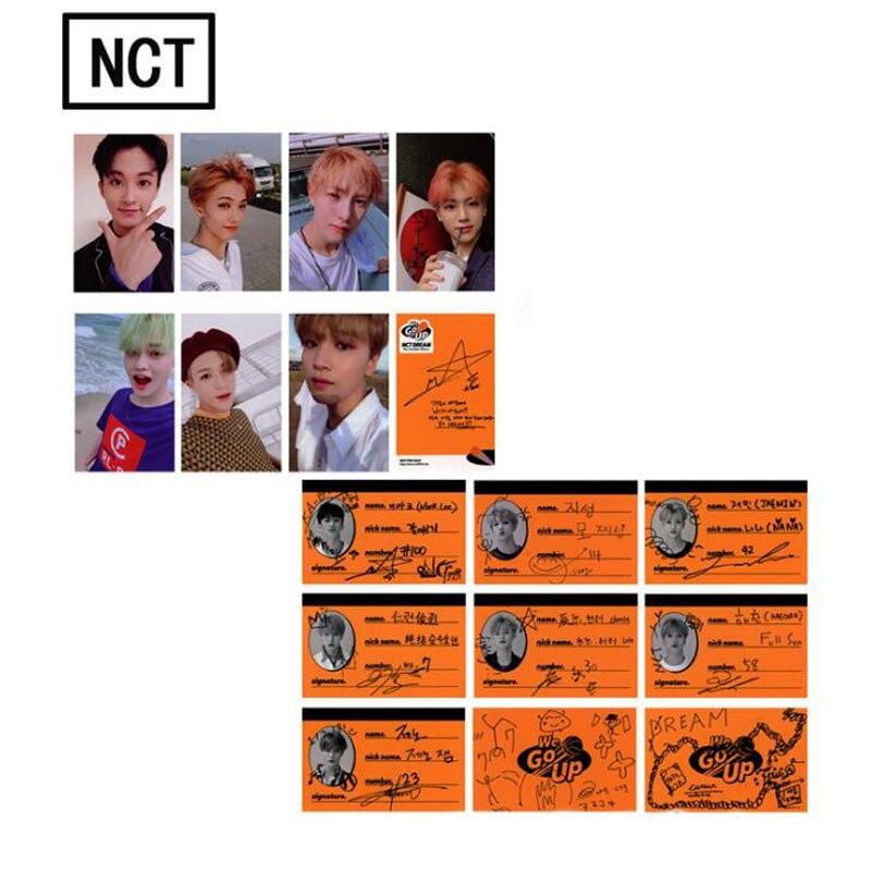 1 Pack Kawaii Kpop Nct Traum Wir Gehen Up Album Autograph Photocard Papier Foto Karten Schreibwaren Gutes Renommee Auf Der Ganzen Welt