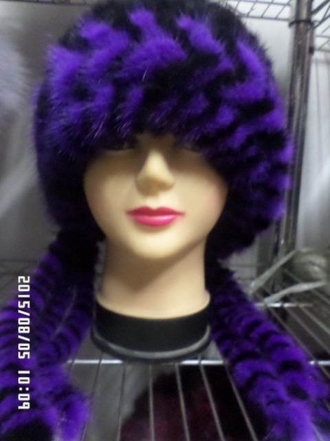 New spiked  real fur mink fur women  hats fashion cap winter warm freeshipping
