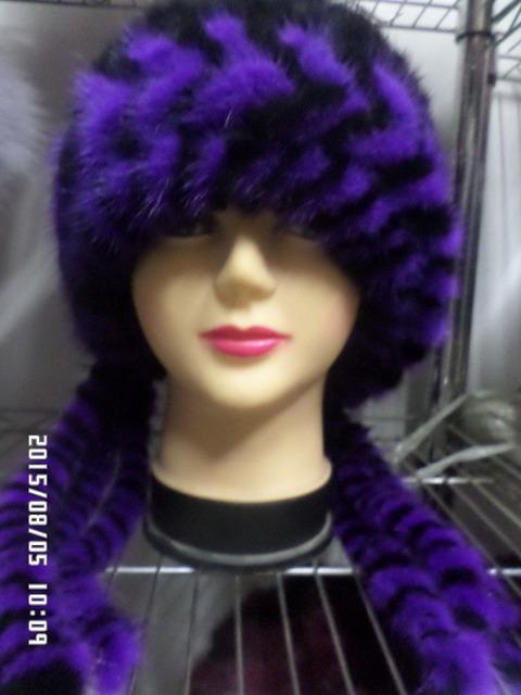 Nueva real de piel de visón de piel de las mujeres sombreros de invierno casquillo de la manera de pinchos calientes freeshipping