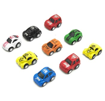 9pcs Mini Pull Back Cars Toy Cute Plastic Car Models Diecast Vehicle Toys for Children Boy Toys pull back car 36 pack set of toy cars party favor mini toy cars set for boys kids child birthday play plastic vehicle set