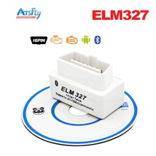 Hottest SUPER MINI ELM327 Bluetooth OBD2 V2.1 White Smart Car Diagnostic Interface ELM 327 Wireless Scan Tool