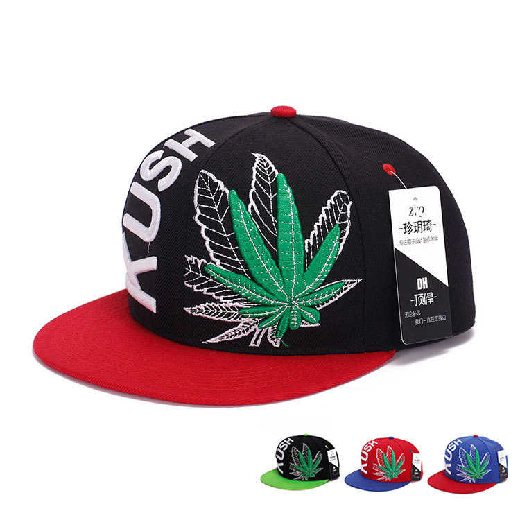 Women Men Vogue Sreet Hemp leaf Embroidery Baseball Caps Maple leaves Chapeu Gorras Casquette Hiking snapback cap Hip Hop hats