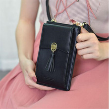 New Women Fashion Wallet Cell Phone Wallet Big Card Holders Wallet Tassel Handba
