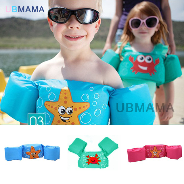Children swimming lifesaving equipment Yi Baobao Buoyancy Swimsuit vest sleeves back floating children snorkeling suit