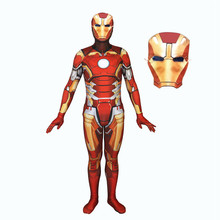 Iron Man Cosplay Costume Movie Suit Zentai Bodysuit Avengers Tony Stark Jumpsuit Rompers