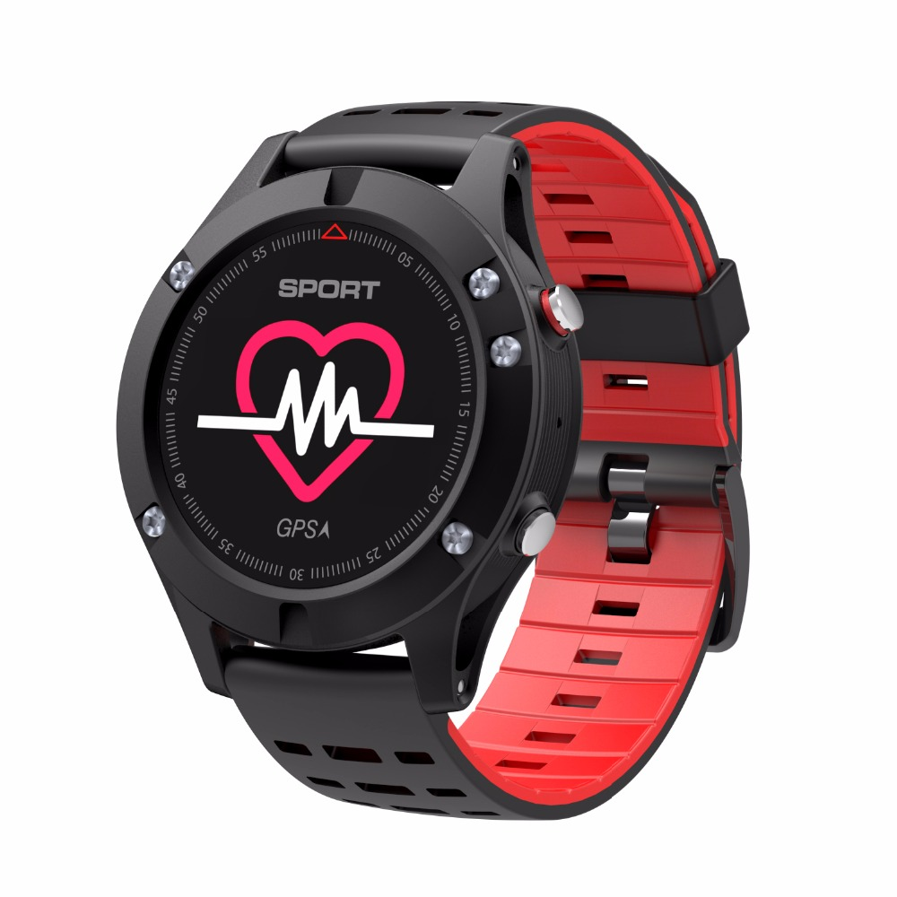 2018 NEW OLED F5 GPS Smart watch Altimeter Barometer Thermometer Bluetooth 4.2 IP67 Smartwatch Wearable devices for iOS Android