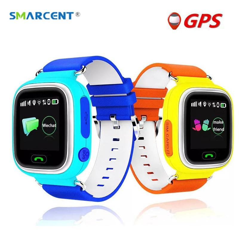 imágenes para SMARCENT Q90 Pantalla Táctil Q50 Niños Reloj Inteligente GPS Tracker WIFI Reloj Bebe Ubicación Posicionamiento SOS de Llamada Perdida Anti Monitor reloj